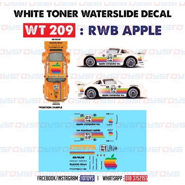 WT274 White Toner Waterslide Decals /> SAKURA/_SPRINTER/>For Custom 1:64 Hot Wheels
