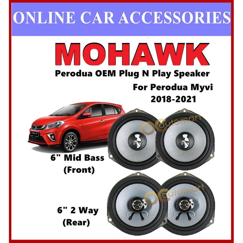 MOHAWK Plug & Play Front & Rear OEM Speaker For PERODUA MYVI NEW