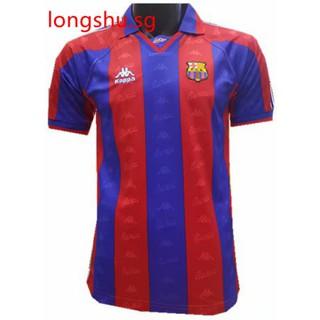 hot sale online af6d5 e8fda 1996-1997 Barcelona Home Retro Soccer Jersey Shirt | Shopee ...
