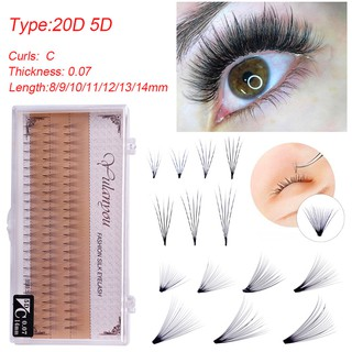 a433a380d64 LF 20D 60PCS/Case Individual Lashes 0.07 C Curl False Eyelash Extension