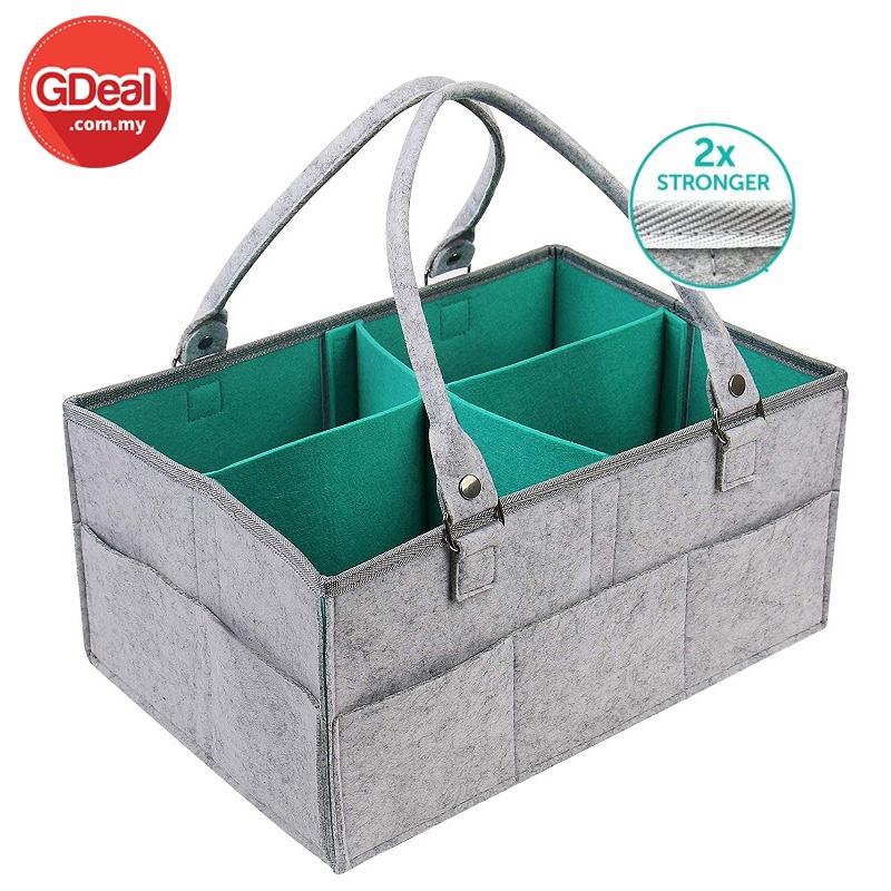 GDeal Urinary Diaper Storage Bag Organizer Nursery Storage Portable Diaper Caddy For Baby Diapers Wipes