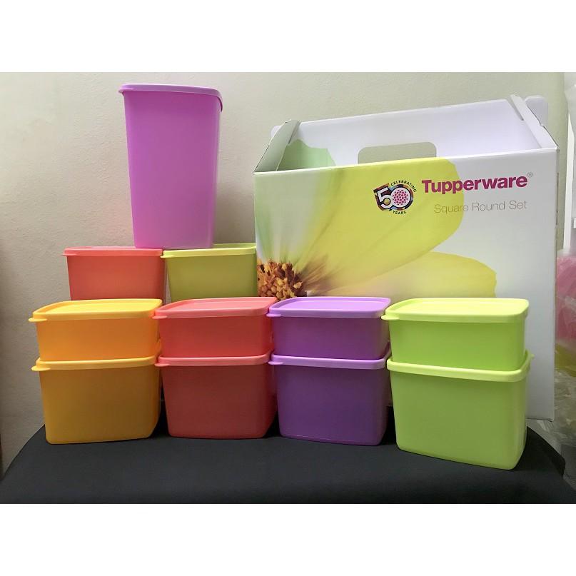 Tupperware Square Round Gift Set 11 pcs