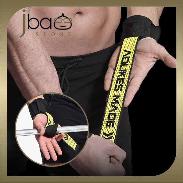 Aolikes Anti-Slip Grip Wrist Band Gym Weight Lifting Wrap Support Strap (1 Pair)