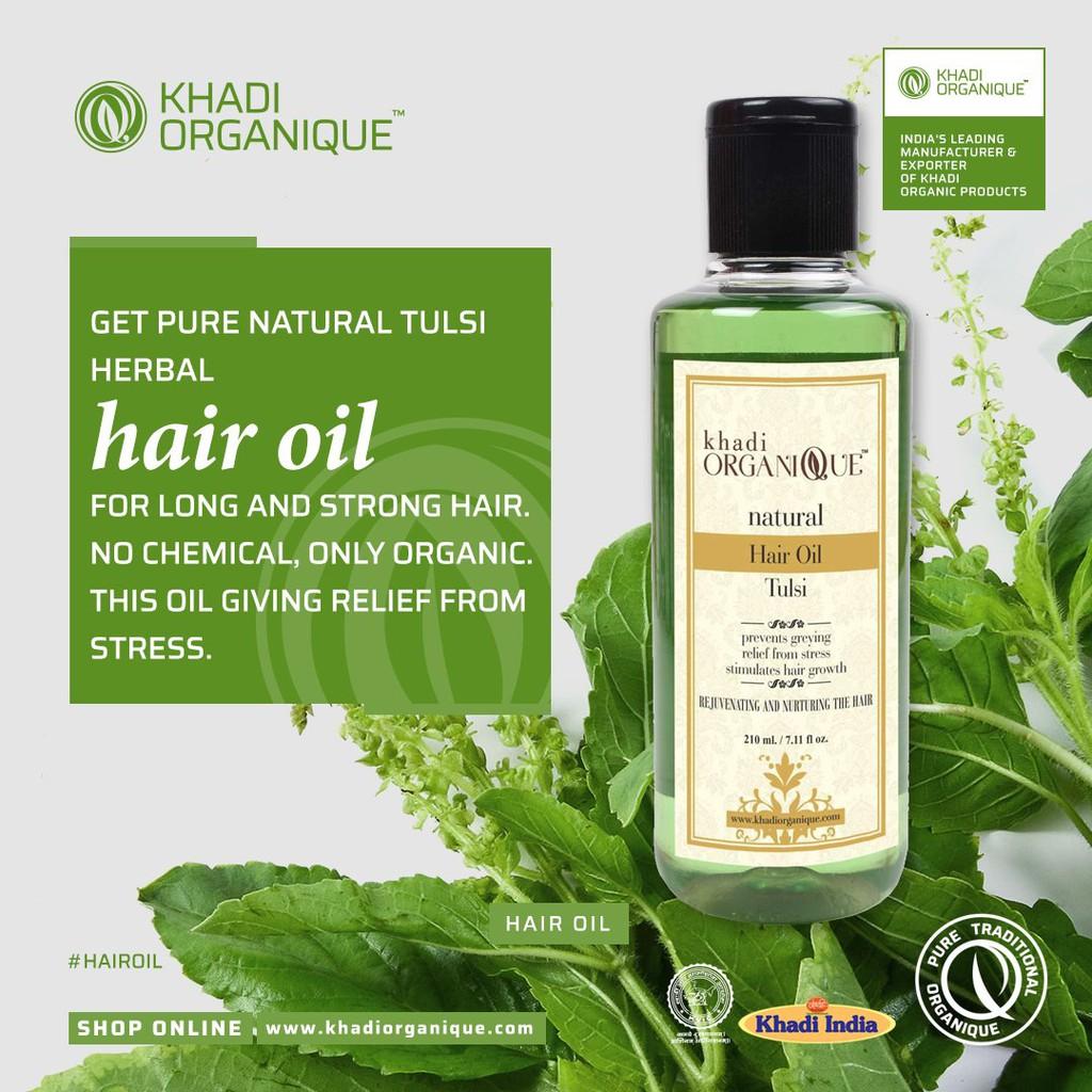 45% original Khadi organic Natural Tulsi Herbal Hair oil, 45ml