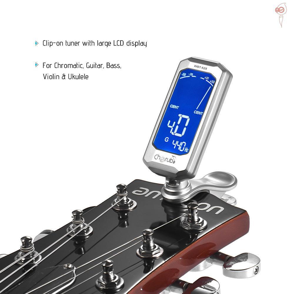 ... Cherub WST-525 chromatischer Cliptuner für Gitarre Ukulele Bass Violine