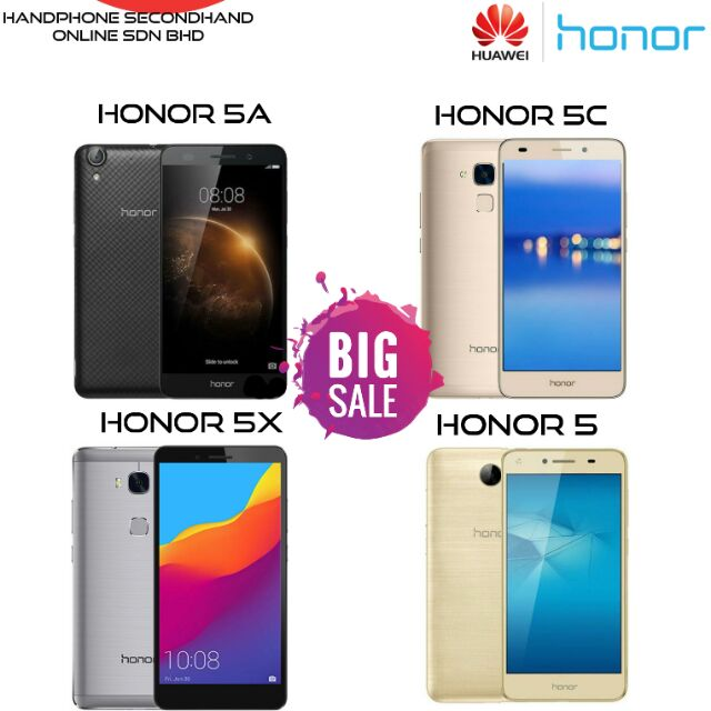Huawei Honor 5A , 5 , 5C , 5X (original 2nd) 2gb ram 16GB rom , 13MP  Camera, 5 5 lcd (import)