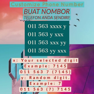 Phone Number no IC / NRIC Virtual Phone Number / SIMCARD Sim Kad