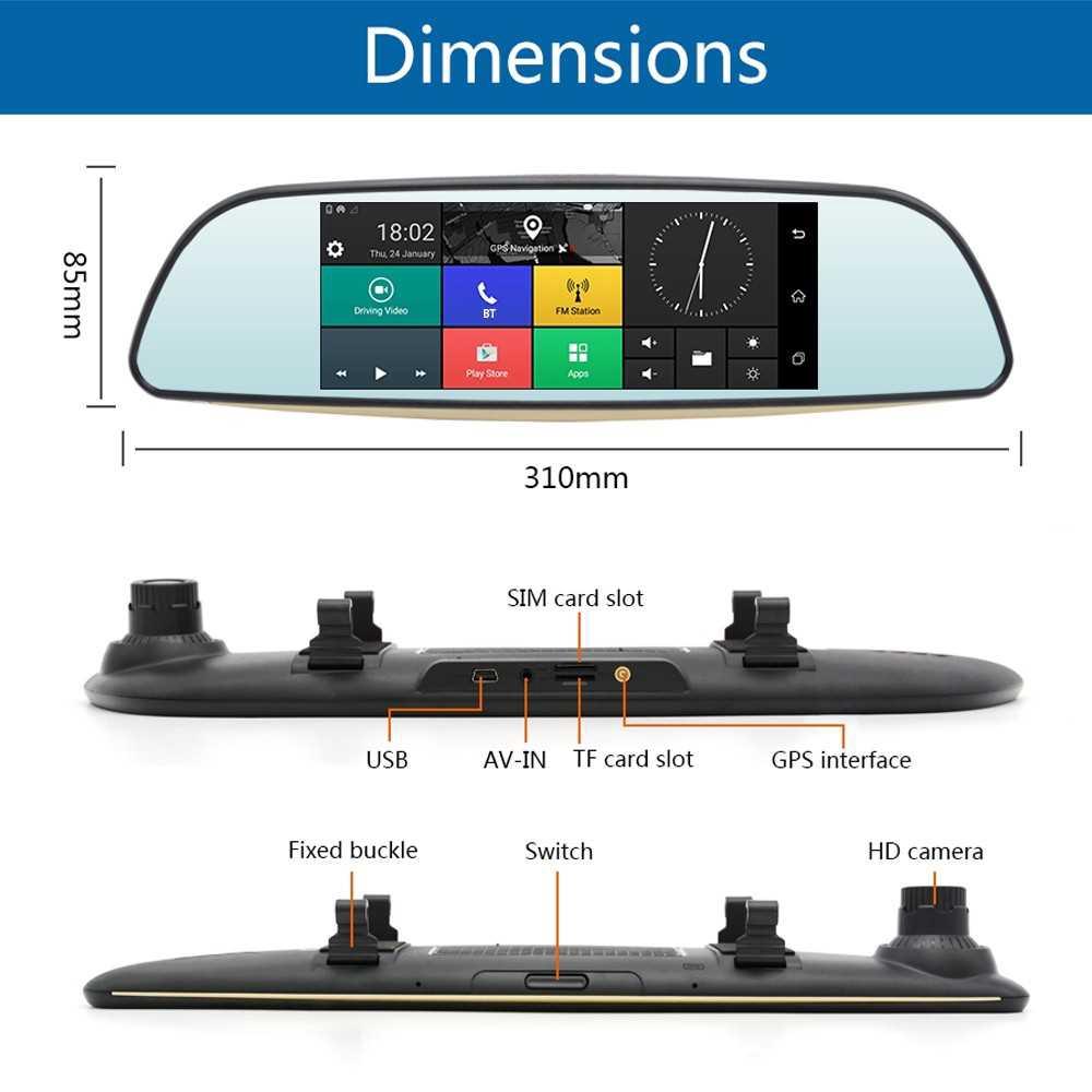 JUNSUN E515 Multifunction Wifi Car Driving Recorder Portable Auto DVR Dual Len Rearview Camera (Standard)