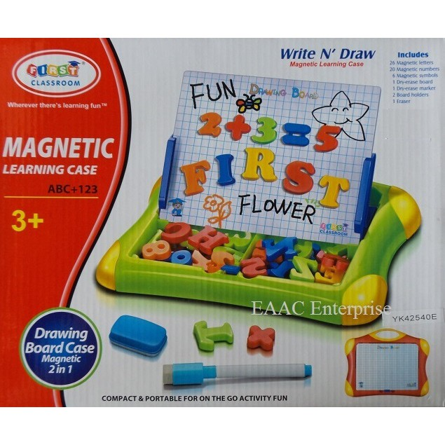 Magnetic Learning Drawing Board Alphabet ABC and Numbers