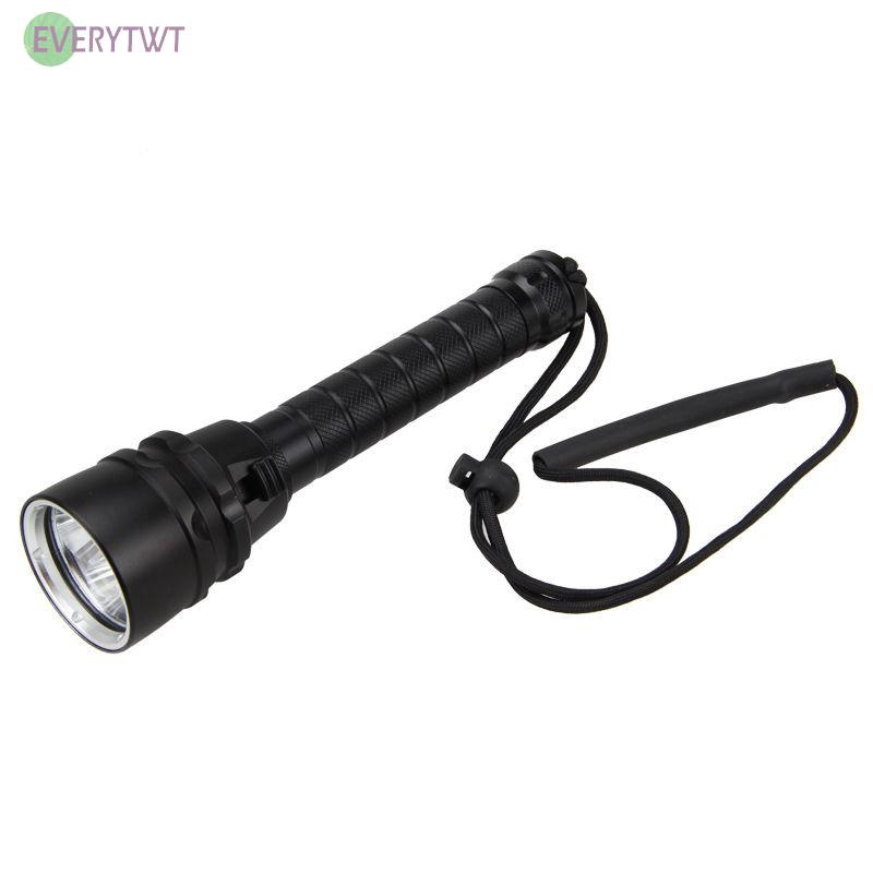 20000LM Outdoor Underwater T6 LED Scuba Diving Flashlight Torch Waterproof New
