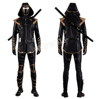 Avengers 4 Endgame Hawkeye Costume Clinton Barton Cosplay Ronin Halloween Outfit