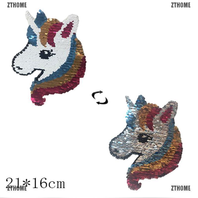 69f98e27e6ca Unicorn Change Color Iron on Patches Washable Heat Sticker T-shirt ...