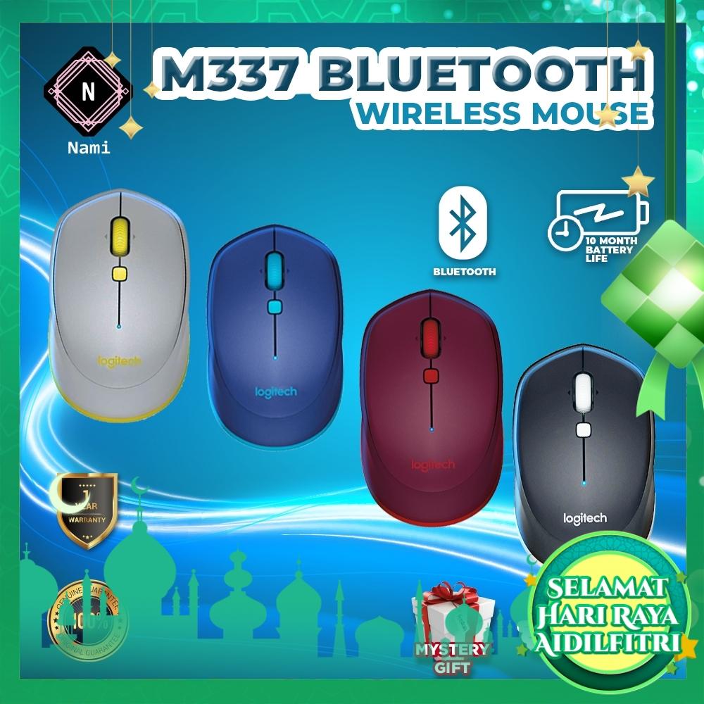 Logitech M337 Wireless Bluetooth Mice Portable Ergonomic Optical Tracking Mouse For Laptop Desktop PC Office Home