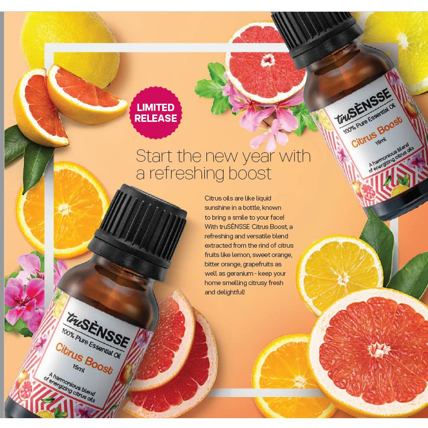 truSÈNSSE 100% Pure Essential Oil - Citrus Boost (1) 3ml or 15 ml with box