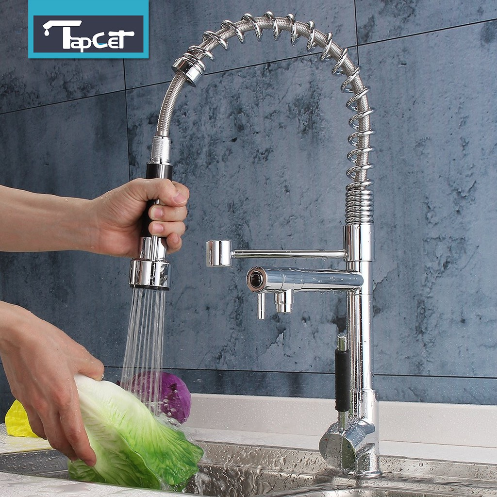 Black Bathroom 1 Handle Pull Out Spray Kitchen Sink Mixer Faucet  Handheld Taps