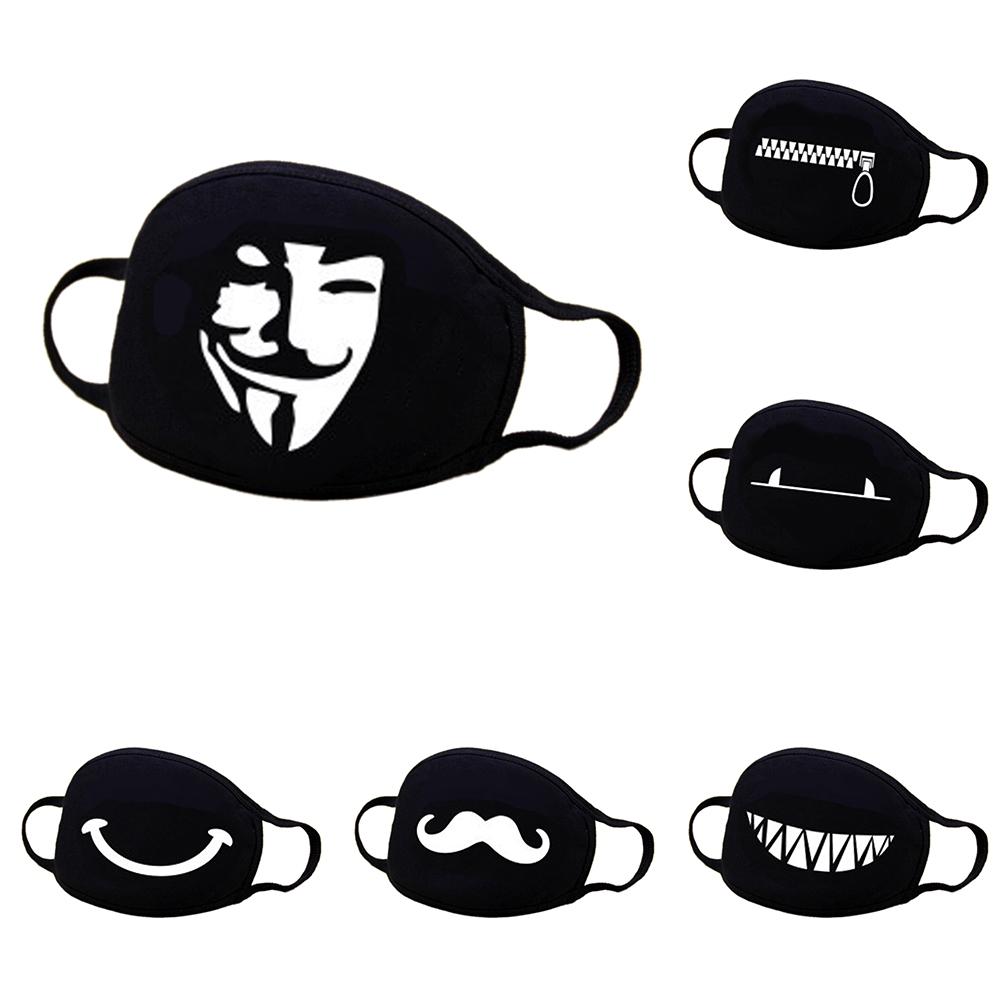 66c90679519 Korean Fashion Unisex Cotton Face Masks Pattern Solid Mask Half FaceMouth  Muffle