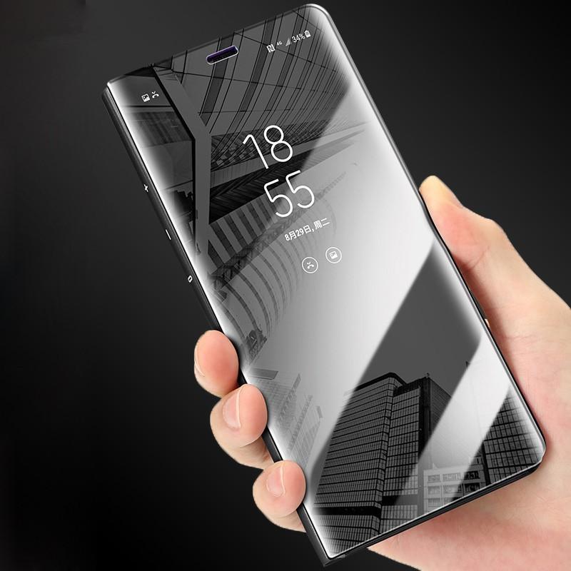 Samsung Galaxy J3Pro J5Pro J7Pro J2Prime J5Prime J7Prime Casing Slim PU Leather Smart Clear View Mirror Case Cover