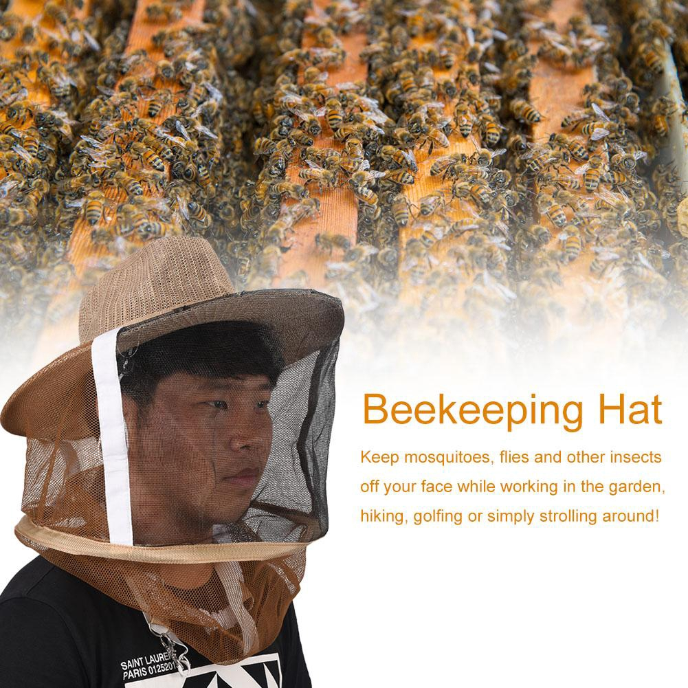 Beekeeping Beekeeper Face Head Guard Cowboy Hat Mosquito Bee Insect Net Veil hot