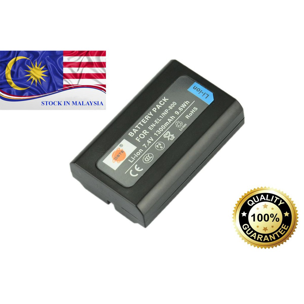 DSTE EN-EL1/NP800 7.4V 1300mAh Battery for Nikon and Konica Minolta (Ready Stock In Malaysia)