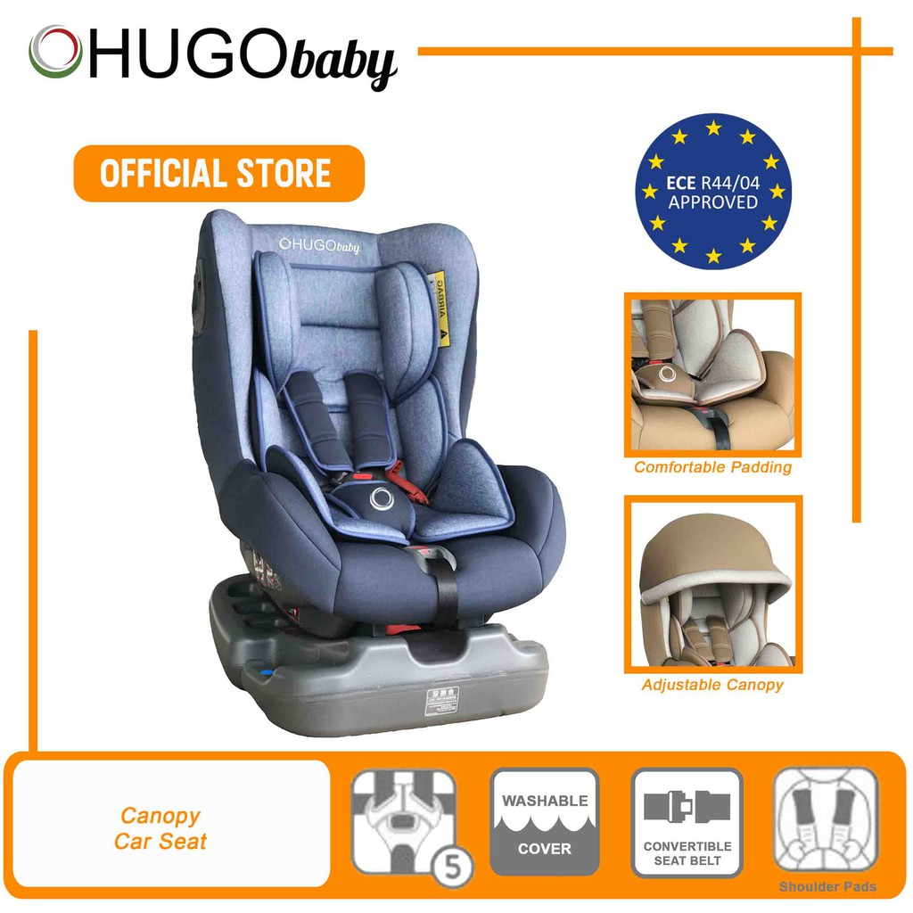 HUGO Baby Reclining Canopy Car Seat