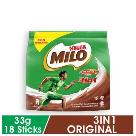 Nestle MILO 3 in 1 Activ-Go (33g x 18s)