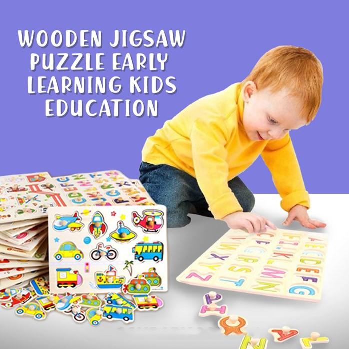 Malaysia O Alat Permainan Jigsaw Puzzel Kayu Wooden Jigsaw Puzzle Early Learning Kids Education Toys Preschool Shopee Malaysia