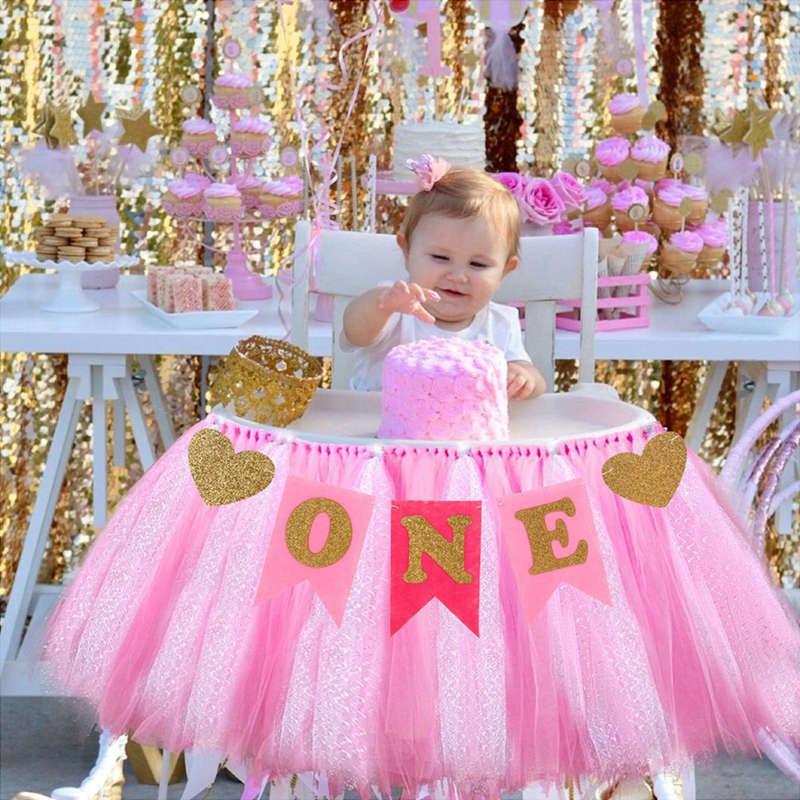 Maxnuo Baby Kid Boy Girl First Birthday Chair Banner One Year 1st Birthday Decor Shopee Malaysia