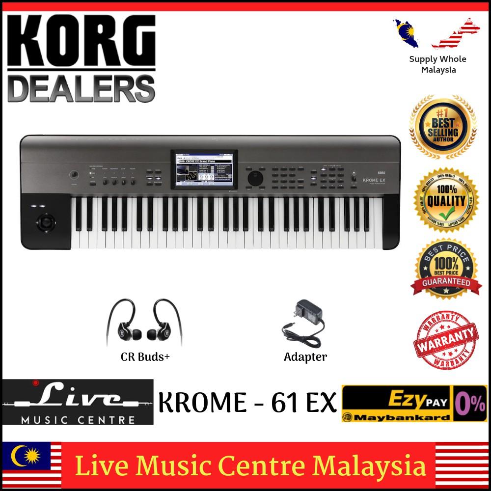 Korg Krome 61 EX Synthesizer Workstation (Krome-61/Krome61)