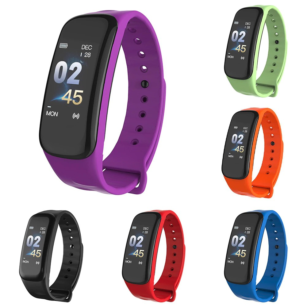 🔥Wearfit C1 Plus Curved screen Smart band Heart Rate Monitor Wristband