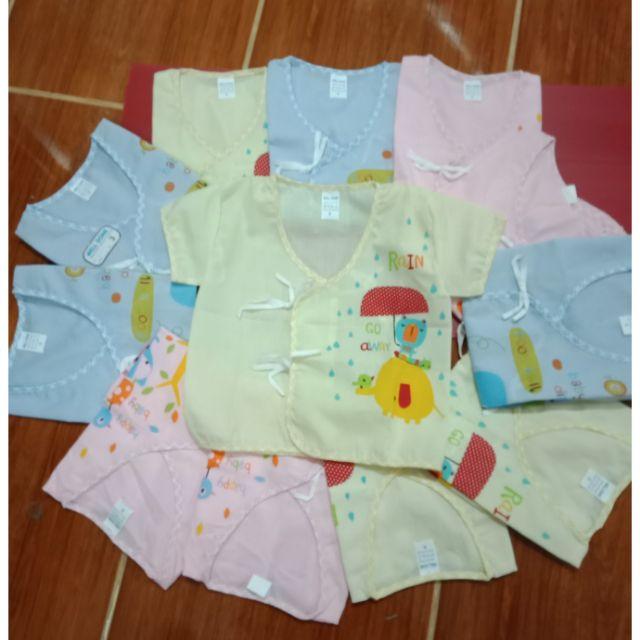 สื้อเด็กอ่อนผูกหน้าผ้าป่าน แพ็ค12ตัว=3