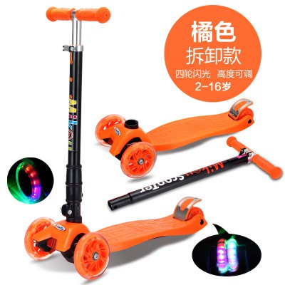1ccb57a2fce1 Kids Children Scooters Foldable 3 Wheels + Flash LED Sport Skate Toys |  Shopee Malaysia