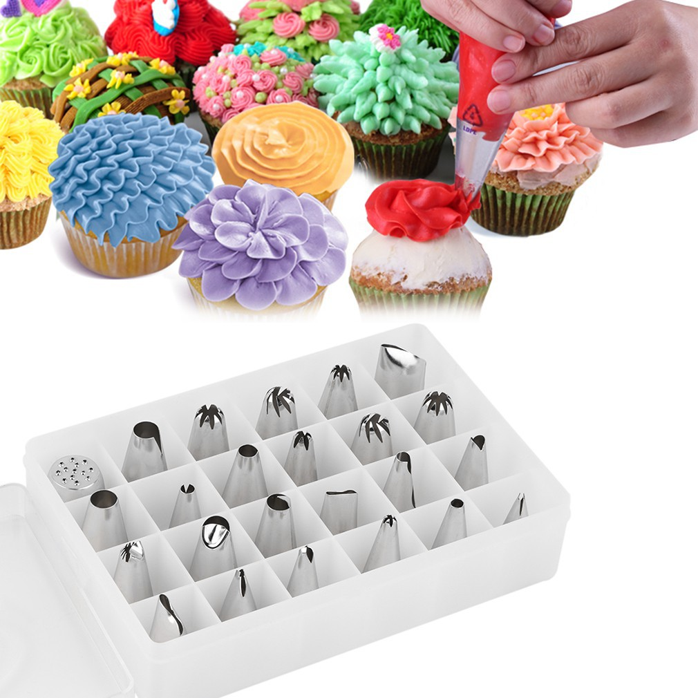 51 Pcs Decorating Large Icing Piping Nozzles Pastry Stainless Steel Tips  Set  517181f71ef3