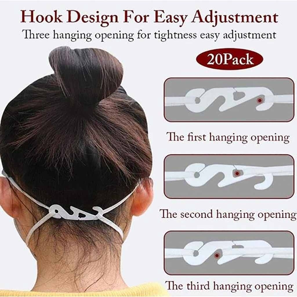 3 Pair Soft Silicone Mask Buckle Ear Hooks Soft Silicone Ear Band Extension for Adult Child