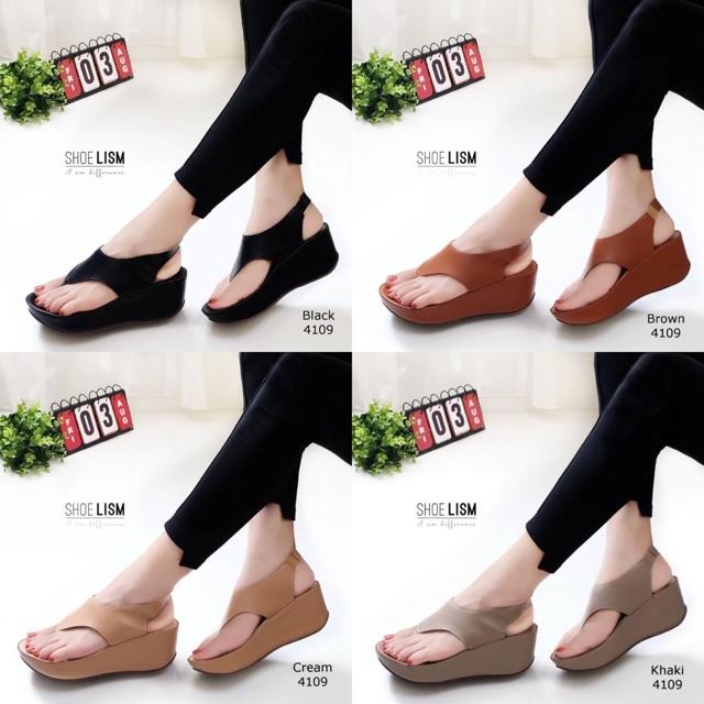 4109 รองเท้ารัดส้นเตารีด แบบหูคีบสวยหวานสวยหวานตามแบบเป้ะ 100% ดีงามแบบว่า พื้