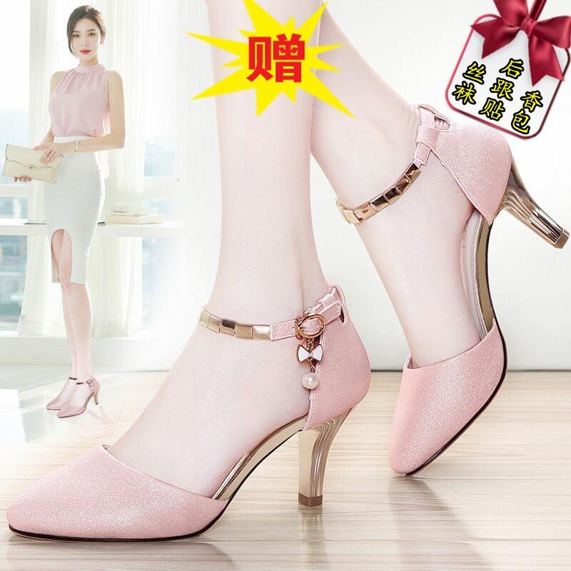 846cd1dc18b6 Ready stock Kasut Tumit Tinggi Baru Wanita Dengan Sandal