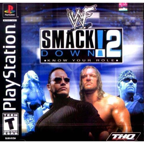 PS1 Game WWF SmackDown! 2: Know Your Role, English version, Wrestling Game / PlayStation 1