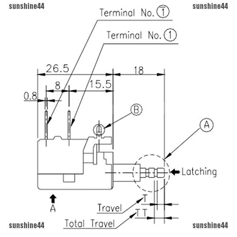 1Pcs ORIGINAL ALPS SDL1P ON-OFF PANEL MOUNT POWER SWITCHES 4A 250VAC   I