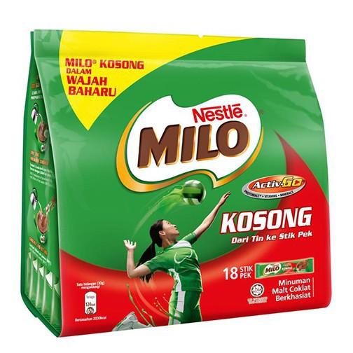 Milo 3in1 Kosong 18x30g