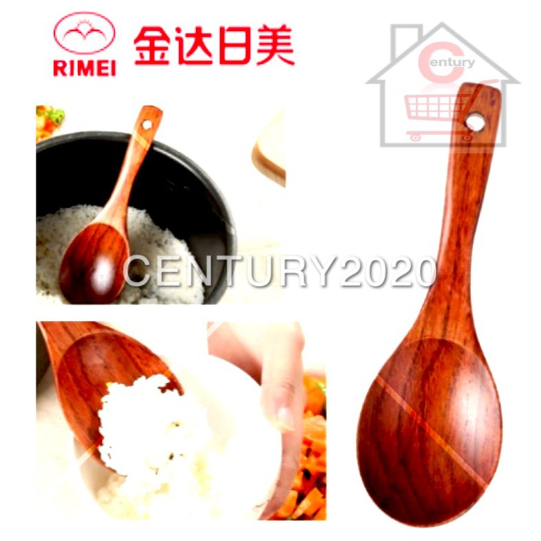 RIMEI Kitchen Natural Wooden Rice Spoon Shovel Cooking Utensil Household Porridge Rice Spatula Kitchen Tableware
