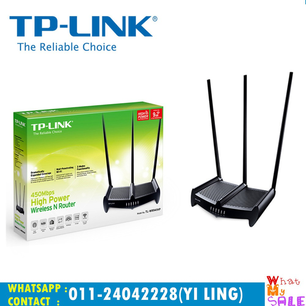 Tp Link Tl Wr940n 450mbps Wireless N Router Shopee Malaysia