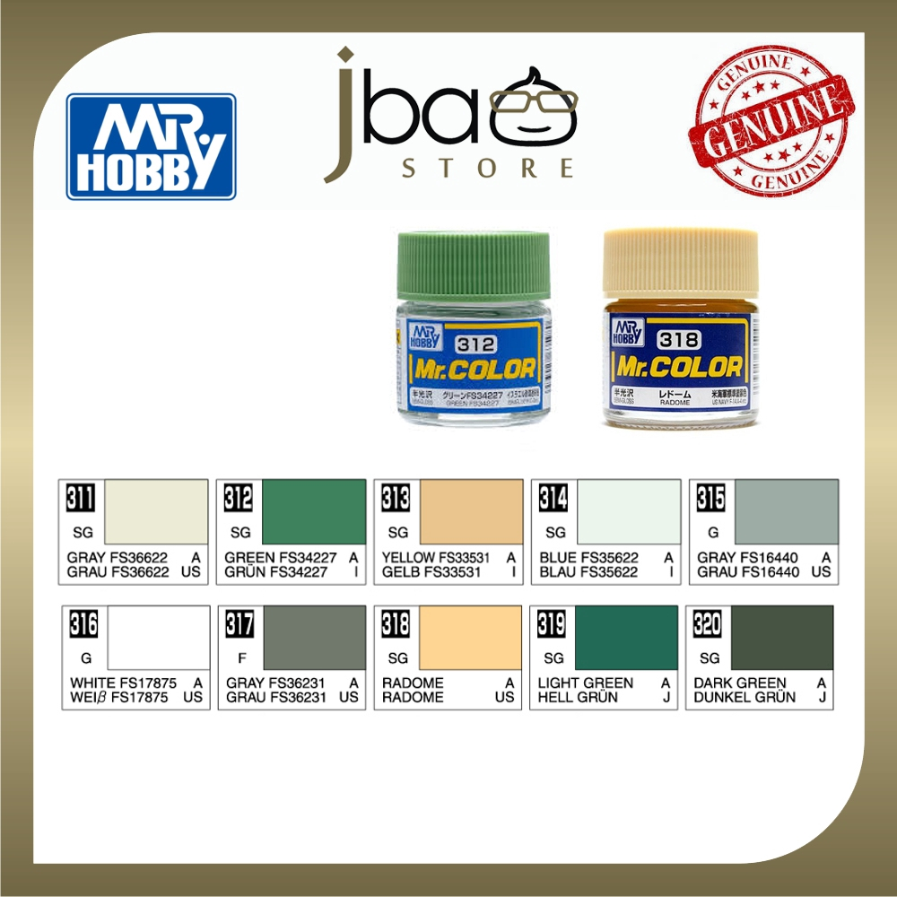 Mr. Hobby Mr.Color C311 - C320 10ml Color Paint Air Brush Package Set