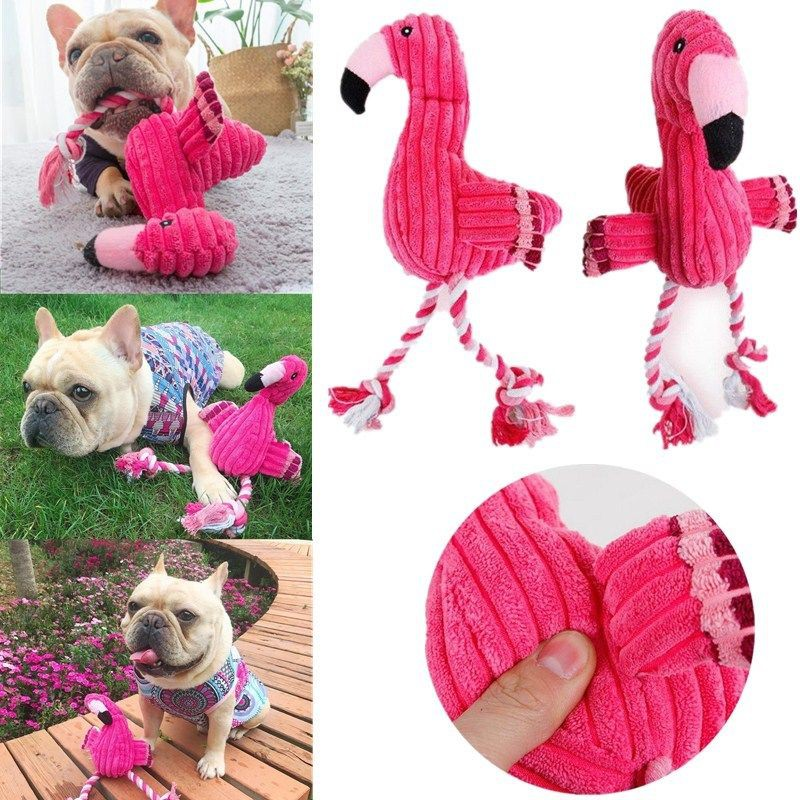 Creative Flamingo Pet Dogs Chewing Toys Cotton Rope Chewing Training Toys
