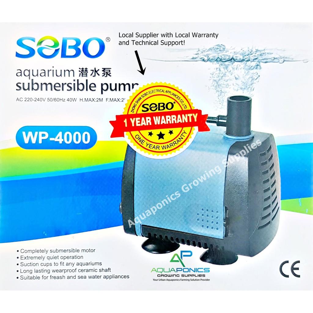SOBO Aquarium 40W Submersible Water Pump WP-4000 Aquaponics Hydroponics  Venturi Pump Aeration
