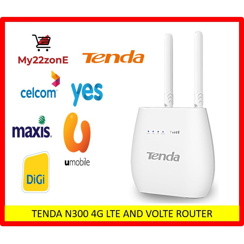 TENDA N300 4G LTE AND VOLTE ROUTER 4G680V2 0