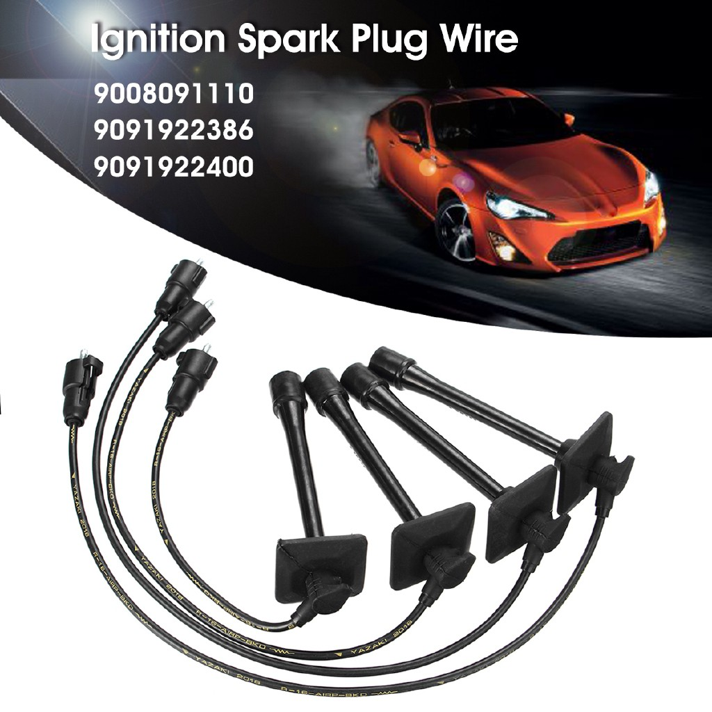 ❀NEW❀4x Ignition Spark Plug Wires Set 9091922400 For Toyota Camry on