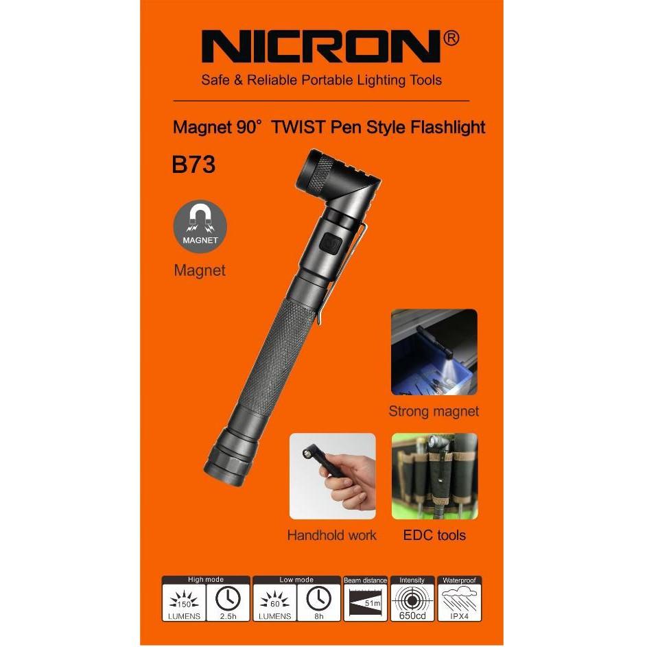 B73 150LUMES NICRON AAA BATTERY HEAVY DUTY PEN STYLE FLASHLIGHT TORCHLIGHT LAMP