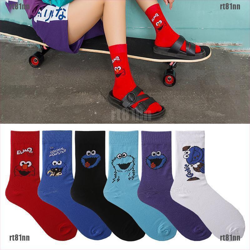 Cotton Socks High Ankle Clown Athletic Crew Socks For Men Women