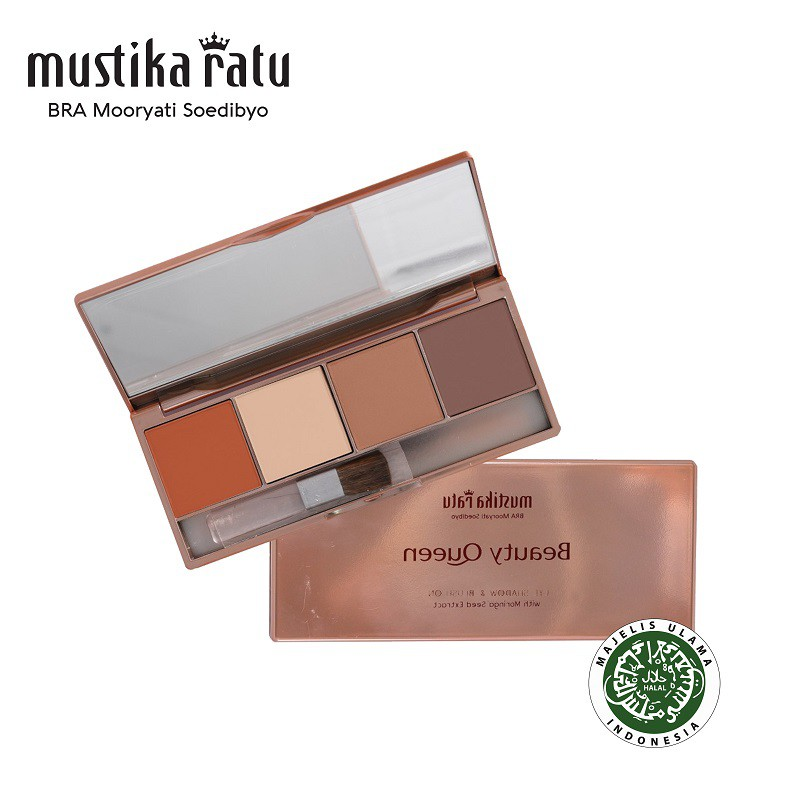 Mustika Ratu Beauty Queen Highly Pigmented Eye Shadow & Blush On 01 - 12gr