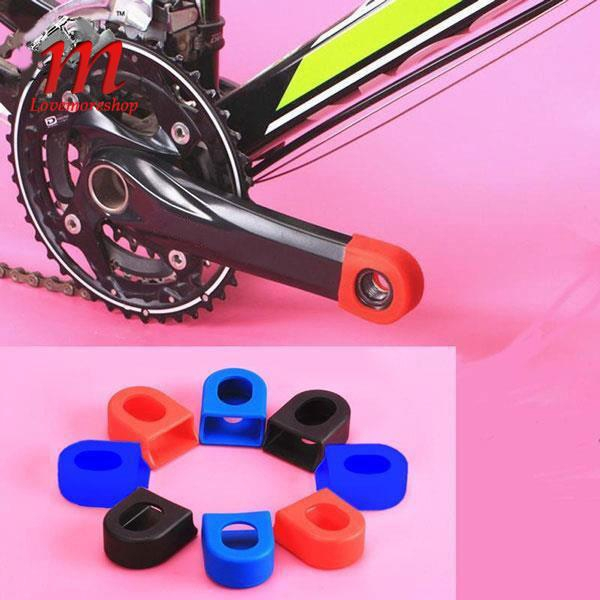 1Pair Bicycle Protector Crank Arm Boots Silicone Bike MTB Crankset Protective CF