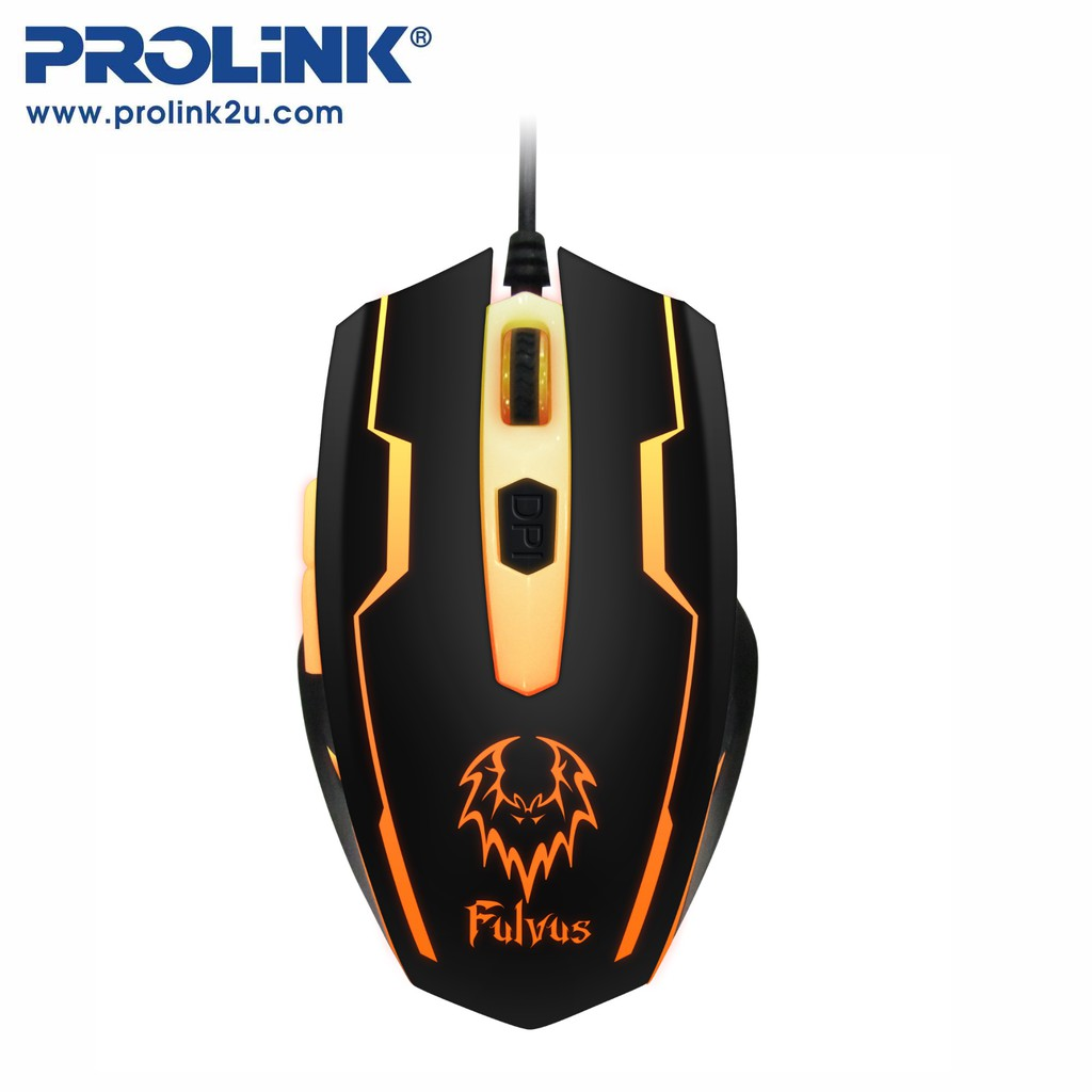 PROLiNK 7-Colour Illuminated Gaming Mouse 6-Buttons PMG9003